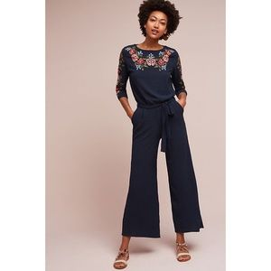8a253ebd2ce NWOT Anthropologie Alyse Embroidered Jumpsuit XS